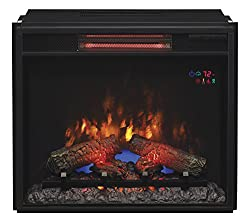 "ClassicFlame 23II310GRA 23"" Infrared Quartz Fireplace Insert with Safer Plug from Twin Star International, Inc."