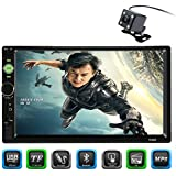 CARED 7inch Car MP5 player,Touch screen,Universal double din Car Audio,Bluetooth Car stereo receiver,Steering Wheel Control,Digital LCD Monitor, Rear View Camera,Bluetooth/MP3/USB/SD,wireless Remote