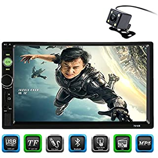 Discount CARED 7inch Car MP5 Player Touch Screen Universal Double din Car Audio Bluetooth Car Stereo Receiver Steering Wheel Control Digital LCD Monitor Rear View Camera Bluetooth/MP3/USB/SD Wireless Remote