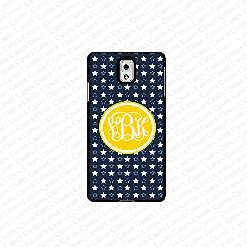 krezy case monogram Galaxy Note 4 case- monogram Personalized cute star pattern black and yellow samsung Galaxy...