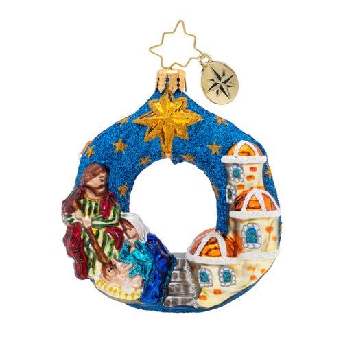 Christopher Radko The North Star Gem Christmas Ornament, Blue