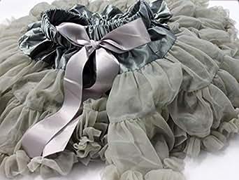 JoBa Grey Chiffon Layered Skirt For Girls