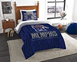 The Northwest Company Officially Licensed NCAA Memphis Tigers Modern Take Twin Comforter and Sham