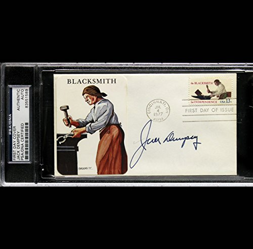 JACK DEMPSEY SIGNED AUTOGRAPHED FIRST DAY COVER PSA DNA AUTO 83551589
