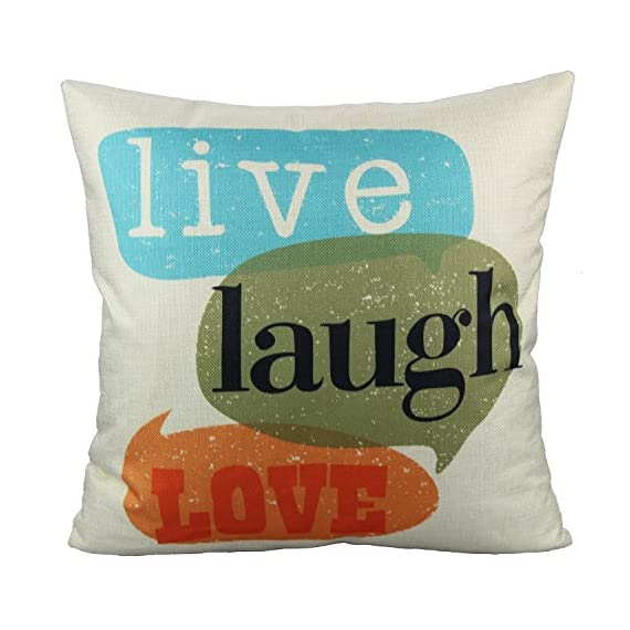 VAKADO Inspirational Quotes Saying Outdoor Throw Pillow Covers Colorful Decorative Words Letters Cushion Cases Home Decor for Couch Sofa Office 18x18 Inch Set of 4 - Pattern: Colorful Inspirational Sayings (You can do it, Live Simply Dream Big Be Grateful Give Love Laugh Lots, Do more of what makes you happy, Live Laugh Love);BEIGE Background. Size: 18x18 Inches (about 45x45 cm); Qty: 4pcs (only cover, no insert) Perfect encouraging gift for men, women, kids, teens, friends and so on; Perfect Decoration for Sofa, Couch, Bed, Bedroom, Living room, Patio, Office, Library, Car, Shop, Outdoor and so on. - patio, outdoor-throw-pillows, outdoor-decor - 51UT5UFSBfL. SS570  -