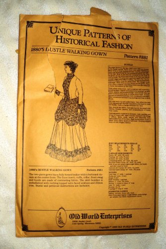 Reproduction Sewing Pattern 1880's Walking Gown Pattern #881
