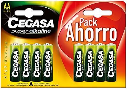 CEGASA Superalkaline - Pack 8 Pilas LR6, Color Verde: Amazon.es ...