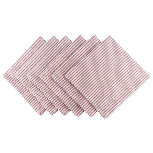 Seersucker Check White - DII Cotton Seersucker Striped Napkin for Brunch, Weddings, Showers, Parties and Everyday Use, 20 x 20