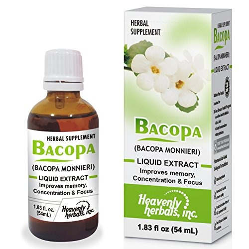 Cheap Improves Memory Concentration, Focus with Bacopa Drops – Bacopa Monnieri Extract | Brain Supplement Memory Supplement Cognitive Enhancement | Herbal Remedy 1.83 fl oz