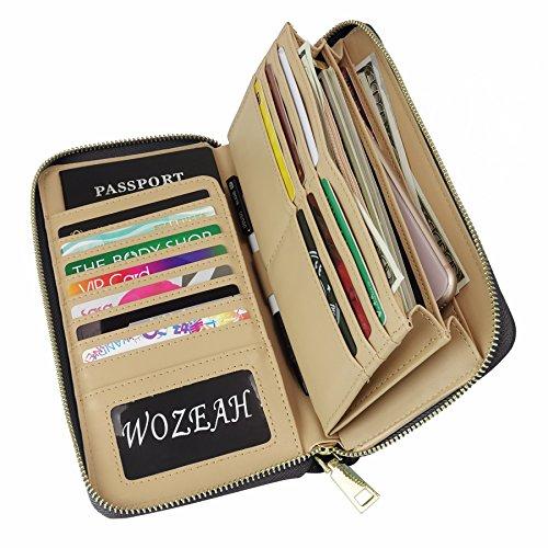Women Clutch PU Leather Wallet (Black) - 5