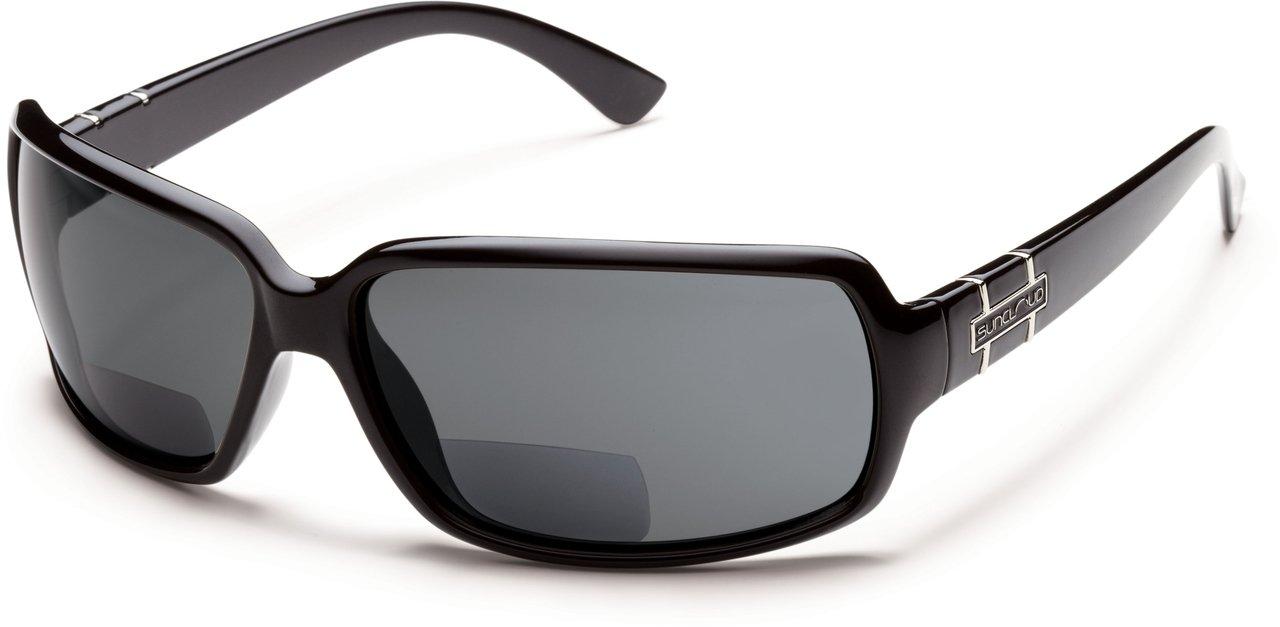 Suncloud Poptown Polarized Bi-Focal Reading Sunglasses in Black with Grey Lens +2.75