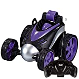 FORESTIME Kids-Invincible Tornado Twister360 Degree Spinning Flips Remote Control Truck (Purple, a)