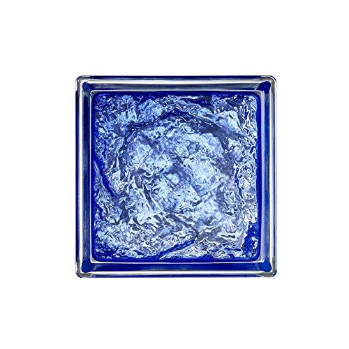 6x6x3 Mini Sophisticated Blue Glass Block -6 pk by Generic