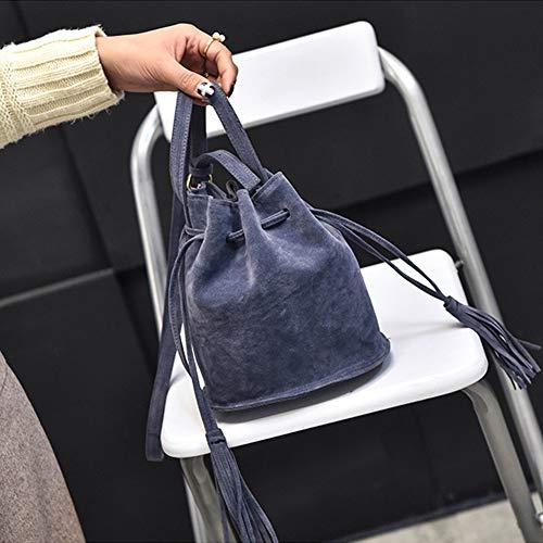 para Leonado hombro Bolso Azul mujer Oscuro unica Beige QPQLK al Taglia wSfBqCPtP
