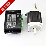 1 Axis CNC Kit 8.5Nm(1204oz.in) Nema 34 Stepper Motor & Driver CNC Mill Router Lathe Robot