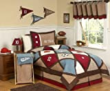 Sweet Jojo Designs 4-Piece All Star Sports Childrens Bedding Boys Twin Set