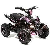 Toxic FunBikes 800w Kids Electric Mini Quad Bike Big Wheels (Pink)