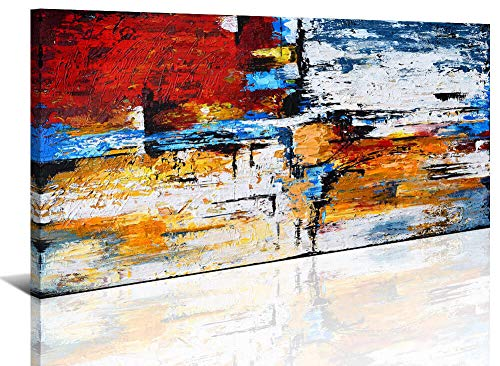 Abstract Wall Art Canvas Print Picture Painting for Living Room Large Colorful Home Bedroom Decoration Modern Framed Artwork 20x40in Office Decor