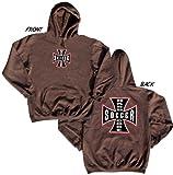 Hardcore Soccer Hooded Sweatshirt-adult brown large