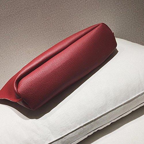 Portafogli Rosso33 tracolla tela ✿✿Yesmile Zaino borsetta Borsa borsa 4Pcs Sacchetto pelle Borse portafoglio Donna in borsa Tracolla Elegante Modello crossbody C Borsa donna Borsa borsa Borsa DarkGray wIqxFBnRS