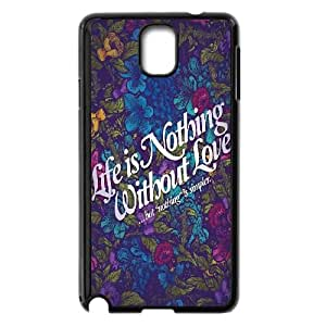 Samsung Galaxy Note 3 Cell Phone Case Black Life Is Nothing GY9098756