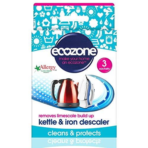 Ecozone Kettle & Iron Descaler (3x20g) (Best Multi Purpose Steam Cleaner Uk)