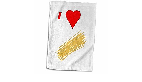 3d Rose Image Of Cartoon I Love Spaghetti Hand Towel 15 X 22 Home Kitchen
