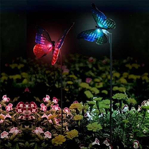 XJ-Garden-2pcs-Pack-Solar-Lights-Outdoor-Butterfly-Solar-Garden-Stake-Decorations-Light