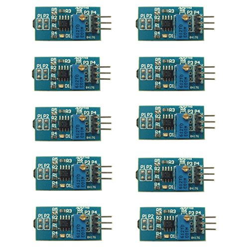 Optimus Electric 10pcs Reflective Infrared IR Sensor Tracker Module with Digital Output and Direct Control form a Microcontroller 5V/3.3V from - Optimus Receivers