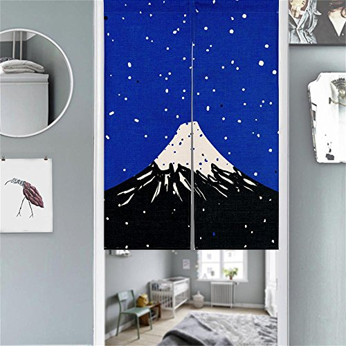 MR FANTASY Japanese Noren Doorway Curtain Tapestry Hokusai Ukiyoe Mt. Fuji 33X47in (Hokusai Mt Fuji)