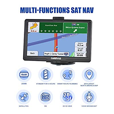 GPS Navigation for car, 7inch Vehicle GPS Satellite Navigation System for Cars, Voice Turn Direction Reminder, Truck Route, Lifetime Free Update Map: GPS & Navigation