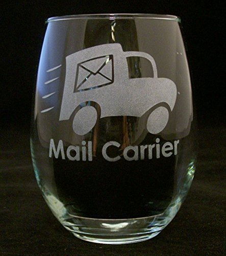 (21 oz) Mail Carrier Good Day Bad Day Don't Even Ask Stemless Wine Glass. This glass makes a great gift idea for your favorite mail carrier/postal worker/mailman.