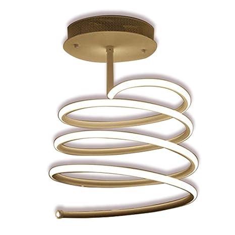 RJJ Lámpara De Techo Con Diseño Moderno En Espiral Regulable Con ...