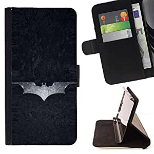 DEVIL CASE - FOR Sony Xperia Z1 L39 - Superhero Sign - Style PU Leather Case Wallet Flip Stand Flap Closure Cover