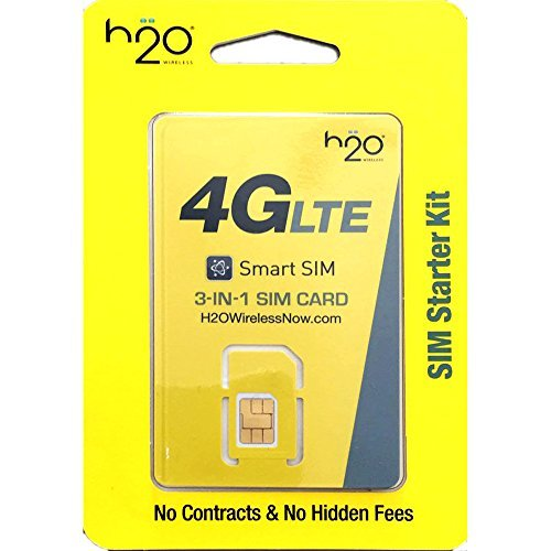 H2O Wireless SIM Mini/Micro/Nano Including 30 Plan Unlimited Talk Text 3GB LTE - Sim Cards
