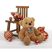 "Shaggy Cuddles - 30"" - Irresistibly Soft & Huggable, Amber Plush Tedy Bear By Giant Teddy"