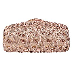 Fawziya 8 Pattern Bling Purses For Women Clutches And Evening Bags-Gold