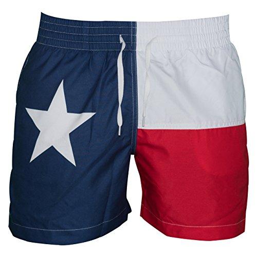 Star Trunk - Meripex Apparel Men's American Flag Swim Trunks; The Lone Stars; Cheaper Than Chubbies (Medium)