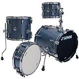 Sonor Drums SSE 12 SAFARI C1 BGS 4-Piece Drum Set with Black Galaxy Sparkle Finish