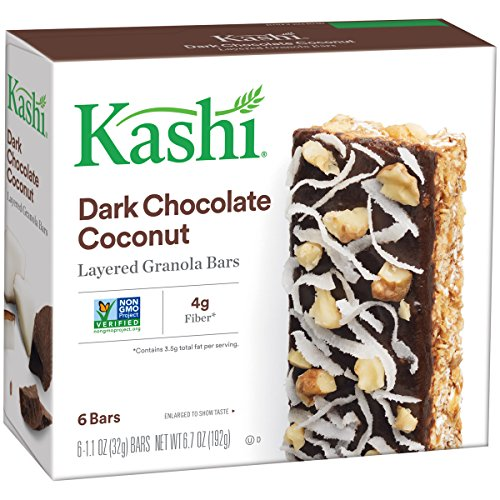 Bar, Dark Chocolate Coconut, Layered Granola, 1.1 oz Bars, 6 Count, (Pack of 6) (Dark Coconut)