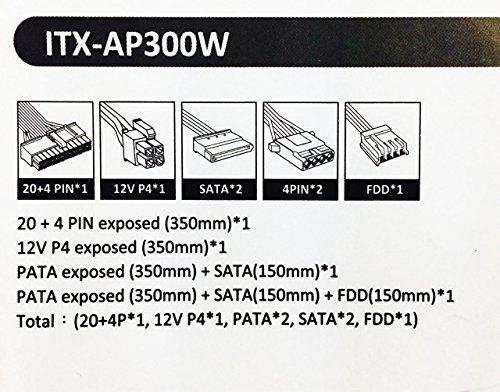 Apevia ITX-AP300W Mini-ITX/Flex ATX 300W Solid Power Supply - Black by Apevia (Image #5)