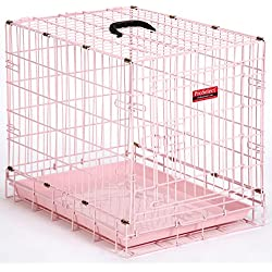 "ProSelect Pastel Dog Crates for Dogs & Pets - Powder Blue and Petal Pink; Extra Small, 18""L x 12""W x 15""H; Small 24""L x 17""W x 20""H; Medium 30""L x 19""W x 22""H"
