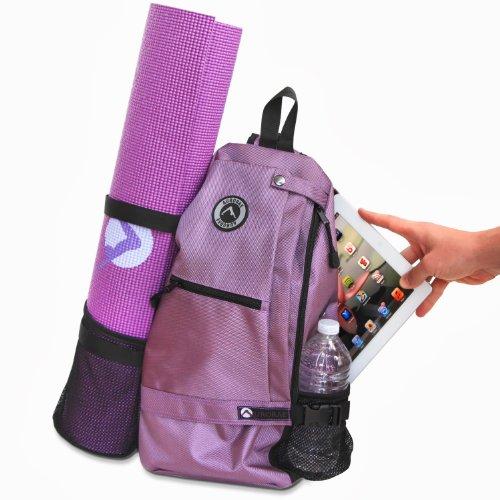 0a9f3bbcb33b Aurorae Yoga Multi Purpose Crossbody Sling Back Pack Bag. Blue. Ebony