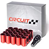 Circuit Performance Tuner Key Acorn Lug Nuts Red 12x1.25 Forged Steel (20pc + Tool)