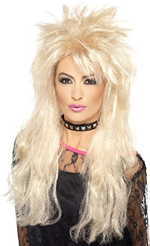 80s Style Wigs (Smiffy's Women's 80's Long Blonde Mullet Wig, One Size, 5020570432464)