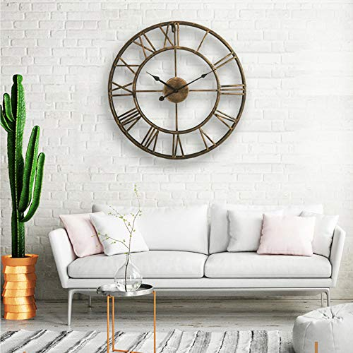 "Lightinthebox 20"" H Country Style Metal Wall Clock Home Décor Clocks"