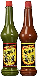 Picamas Hot Sauce & Salsa Brava 7.05 oz. from Guatemala (2 Pack)