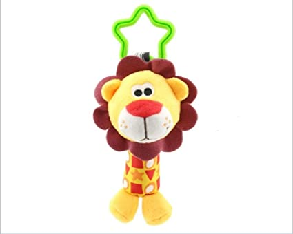 Eco-friendly Animal Plush Sound Handbells Squeeze Rattle For Newborn Baby Toy