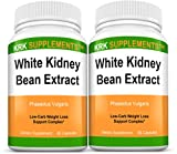 2-Bottles-White-Kidney-Bean-Extract-500mg-180-Total-Capsules-KRK-Supplements