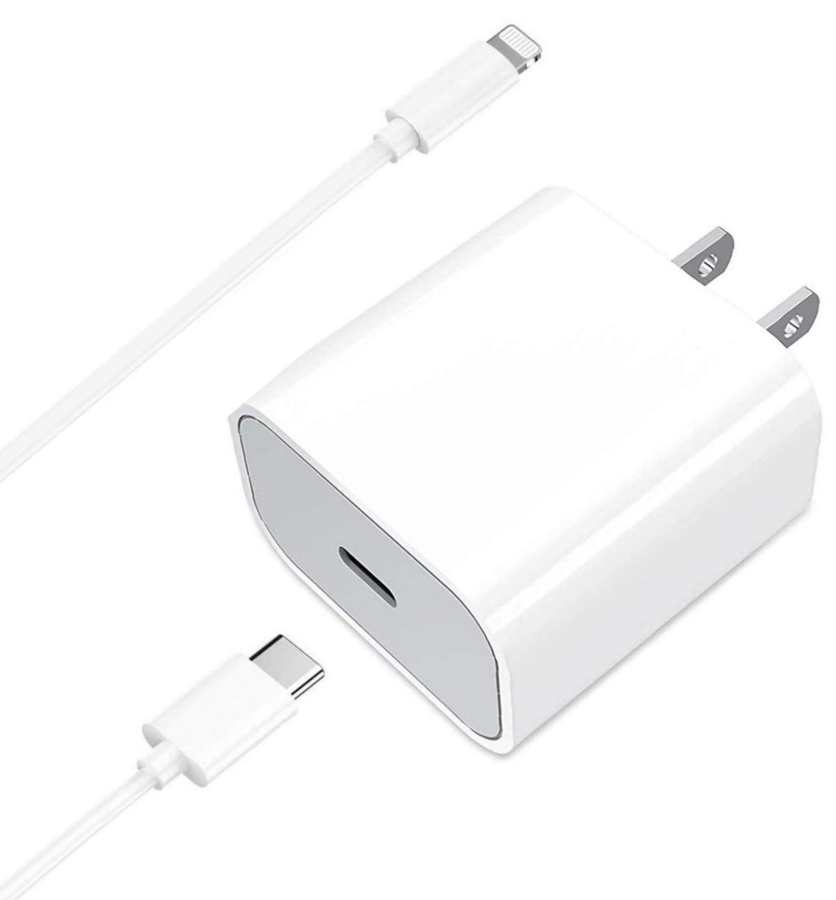 iPhone USB C Charger, Apple MFI Certified USB-C to Lightning Cable, 20W USB-C Power Adapter with 6.6FT Fast Charging Cord for iPhone 12 Mini 12 Pro Max 11 Pro Max SE 2020 XR X XS 8 Plus, iPad Pro